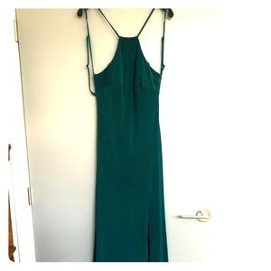 Beautiful emerald green evening gown